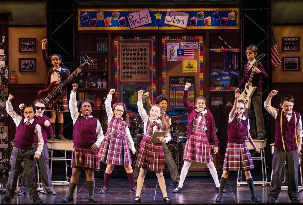 Bach to Rock Rocklin Student in School of Rock Musical